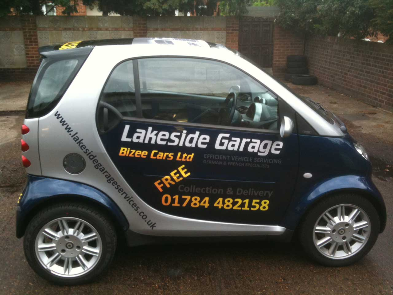 One of our fleet of collection cars